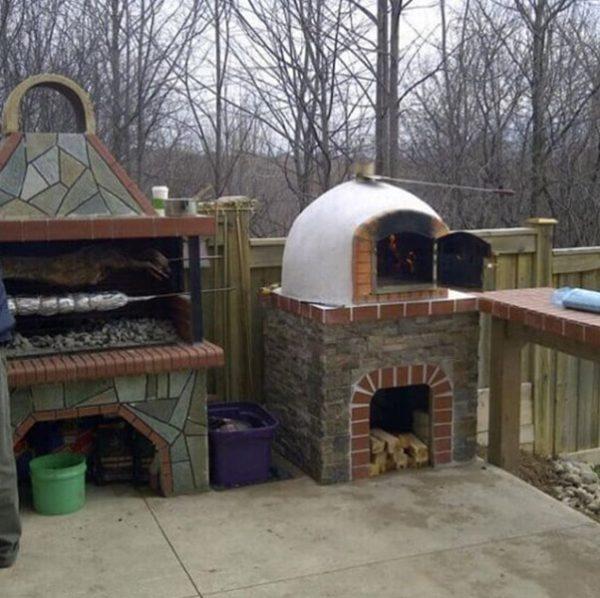 foto Pizza Four à bois fabriqué à la main