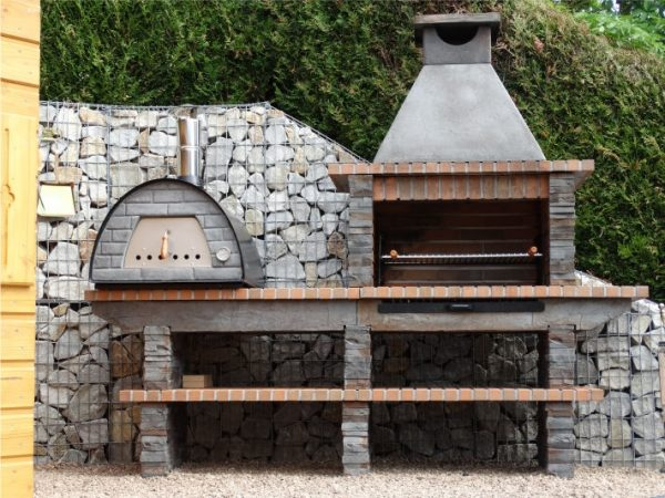 image of bbq with a maximus oven
