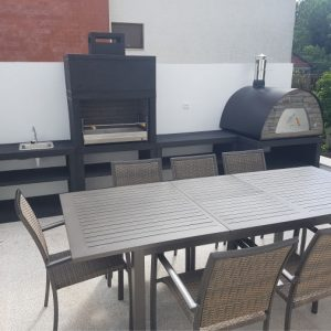 image of barbecue moderne with maximus oven
