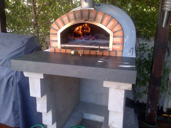 image of wood fired pizza oven