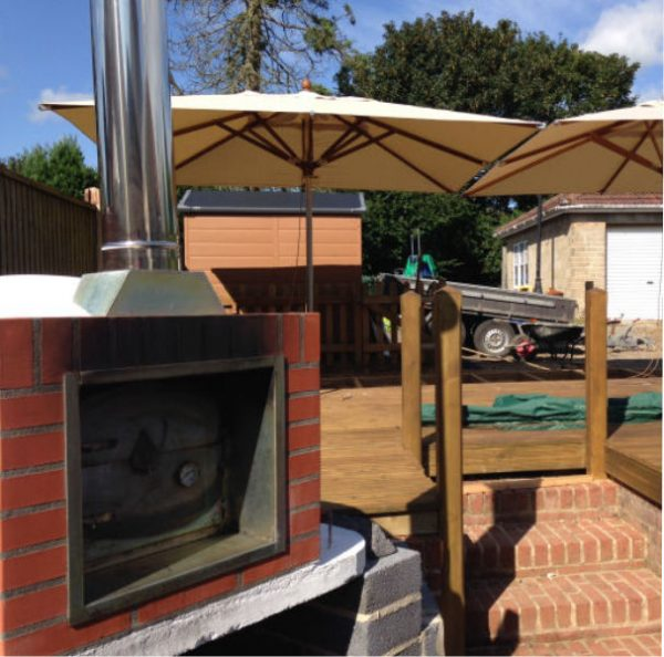 image of wood fured pizza oven