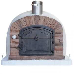 image of wood-fired-pizza-oven-ventura-red-al-90cm