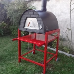 image of oven-black-maximus-welt-red-stand