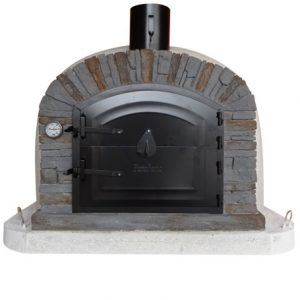 image of wood-fired-outside-oven-ventura-black-100-cm