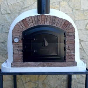 image of wood-fired-oven-ventura-red-100cm
