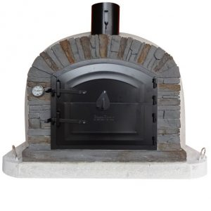 image of wood-fired-pizza-oven-ventura-black-90cm