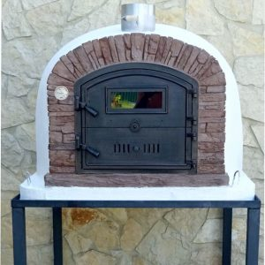 image of wood-fired-pizza-oven-ventura-red