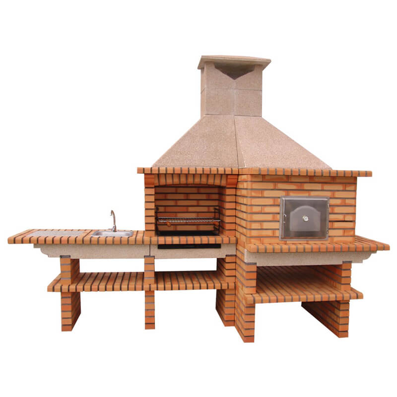 wood fired oven and brick bbq av353f impexfire
